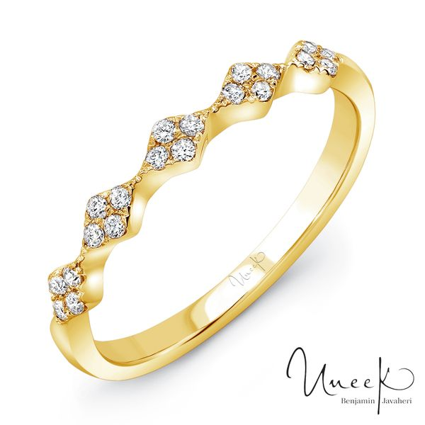 "Uneek ""Mulholland"" Stackable Diamond Band in 14K White Gold - LVBWA122W Javeri Jewelers Inc Frisco, TX"