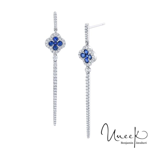 Uneek Blue Sapphire Earrings in 14K White Gold - LVECF385BS Javeri Jewelers Inc Frisco, TX