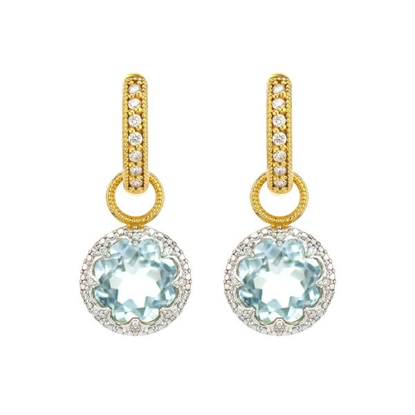 PROVENCE DELICATE PAVE TRIO ROUND STONE EARRING CHARMS Mystique Jewelers Alexandria, VA
