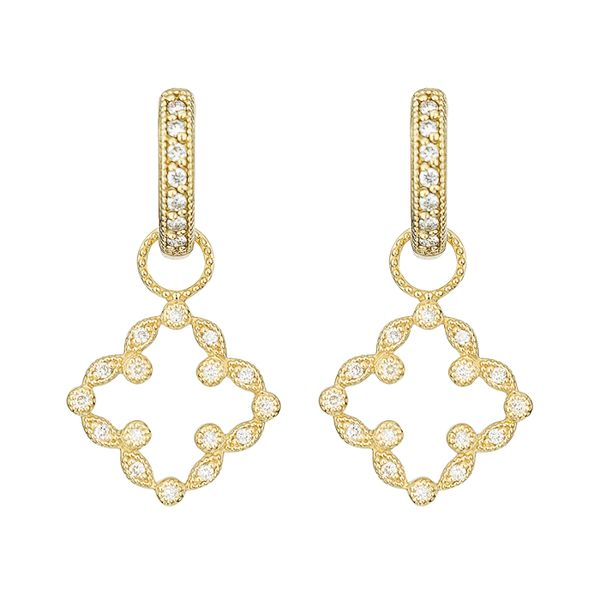 Jude Frances Pave Open Clover Marquis Earring Charms Mystique Jewelers Alexandria, VA