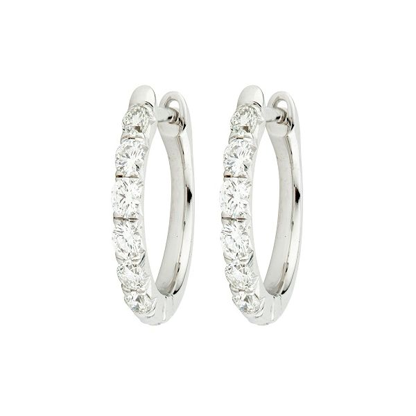 Jude Frances Diamond Pave Hoop Earrings Mystique Jewelers Alexandria, VA
