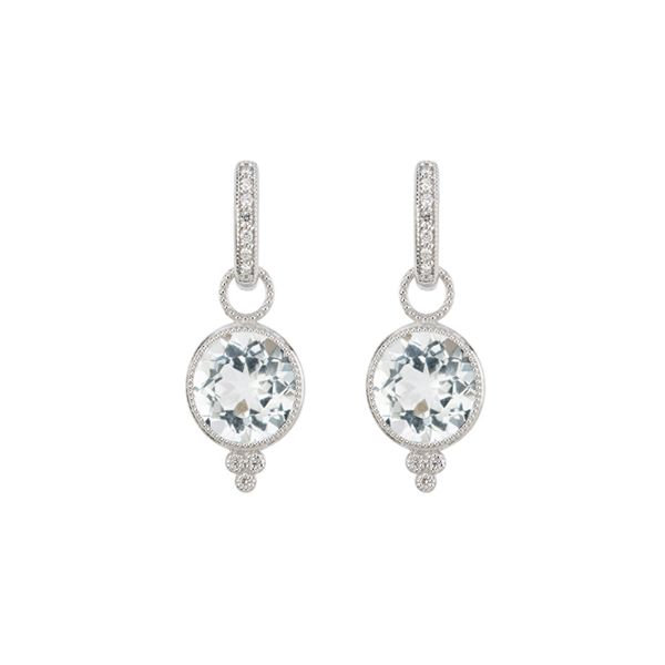 PROVENCE ROUND STONE EARRING CHARMS Mystique Jewelers Alexandria, VA