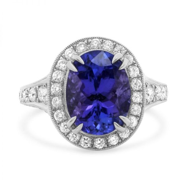 Oval Tanzanite Halo Ring Mystique Jewelers Alexandria, VA