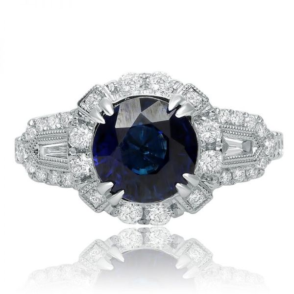Estate Design Sapphire Ring Mystique Jewelers Alexandria, VA