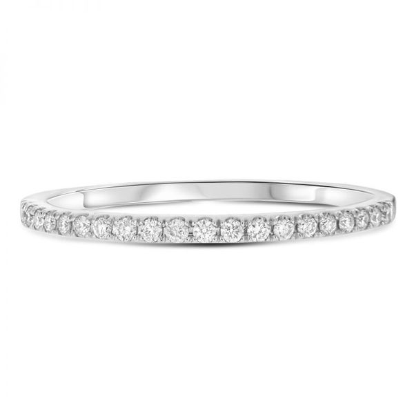 Half Pave White Diamond Band Mystique Jewelers Alexandria, VA