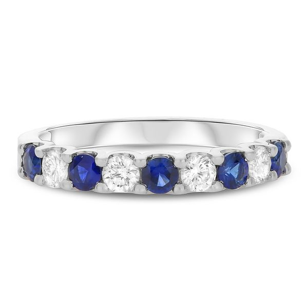 White Gold Sapphire & Diamond Band Mystique Jewelers Alexandria, VA