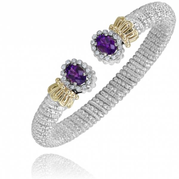 Sterling Silver and 14k Gold- Amethyst  Parris Jewelers Hattiesburg, MS