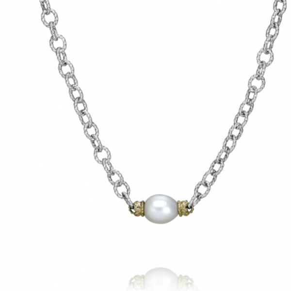 Sterling Silver, 14k Gold, and White Pearl Parris Jewelers Hattiesburg, MS