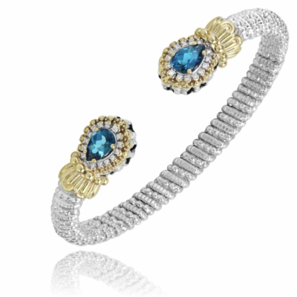 Sterling Silver and 14k Gold - London Blue Topaz Parris Jewelers Hattiesburg, MS