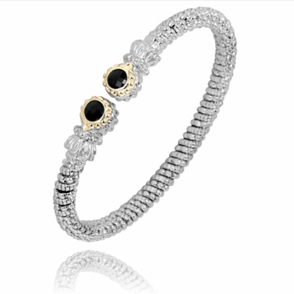 Sterling Silver and 14k Gold Bracelet- Black Onyx  Parris Jewelers Hattiesburg, MS