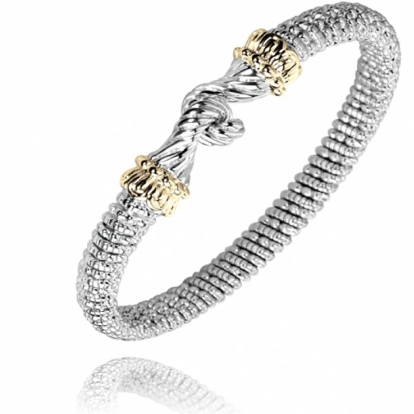 Sterling Silver and 14k Gold Bracelet with Hook  Parris Jewelers Hattiesburg, MS