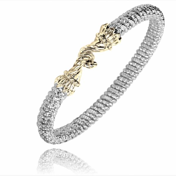Sterling Silver and 14k Gold Bracelet with Gold Hook Parris Jewelers Hattiesburg, MS