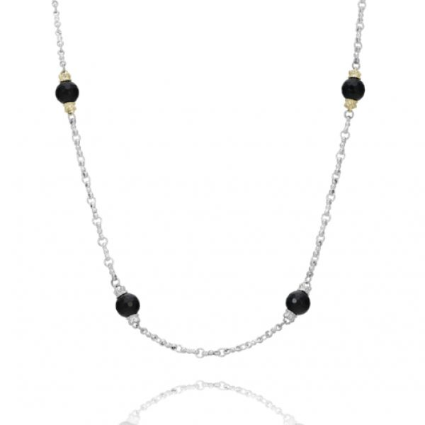 Sterling Silver and 14k Gold with Black Onyx Parris Jewelers Hattiesburg, MS