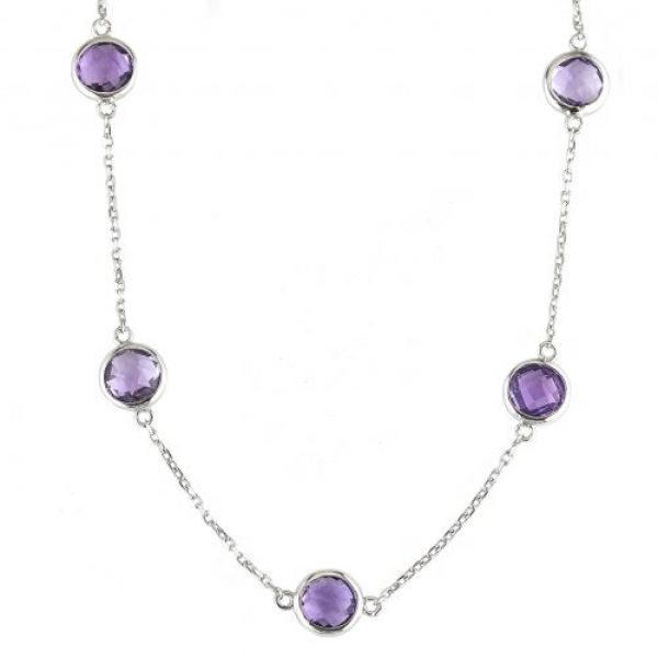 Amethyst Station Necklace Parris Jewelers Hattiesburg, MS