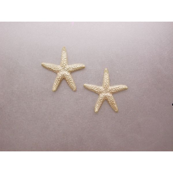 Starfish Earrings 22 mm size with Post Backs William Phelps Custom Jeweler Naples, FL