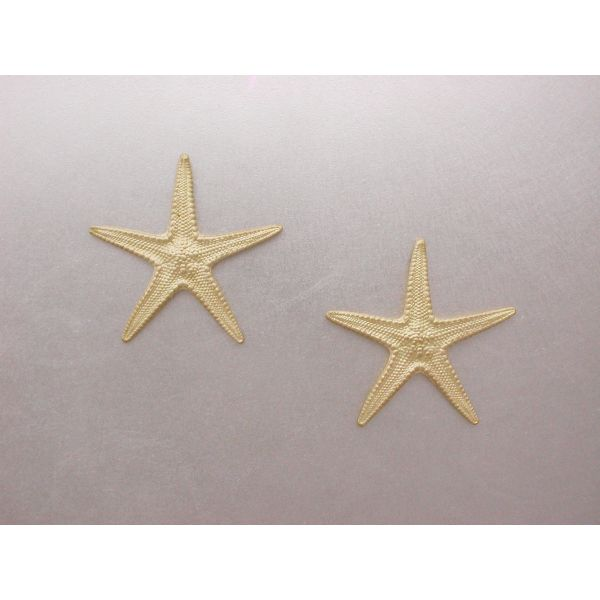 Starfish Earrings 28 mm Plain  William Phelps Custom Jeweler Naples, FL