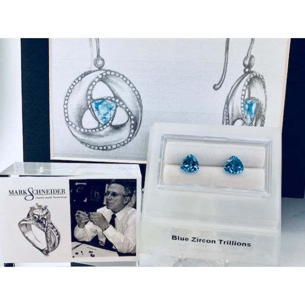 Mark Schneider Design Blue Topaz Earrings  William Phelps Custom Jeweler Naples, FL