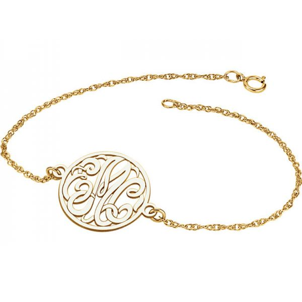20mm 3-Letter Script Monogram Bracelet Image 2 Polly's Fine Jewelry N. Charleston, SC