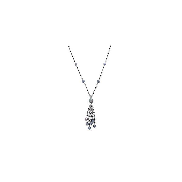 Silver Black Pearl Tassel Necklace Polly's Fine Jewelry N. Charleston, SC