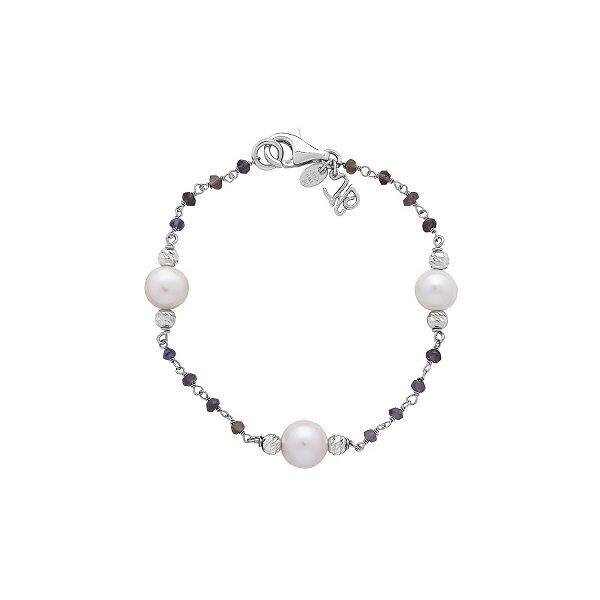 Silver Pearl & Iolite Spinel Bracelet Polly's Fine Jewelry N. Charleston, SC