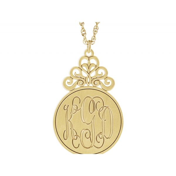 3-Letter Script Monogram Necklace Image 3 Polly's Fine Jewelry N. Charleston, SC