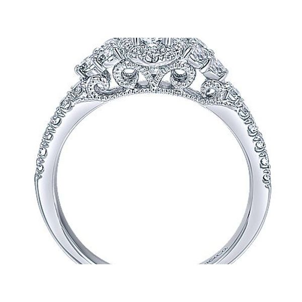 Complete Oval Cut .70 ctw White Gold Diamond Halo Engagement Ring Image 2 Polly's Fine Jewelry N. Charleston, SC