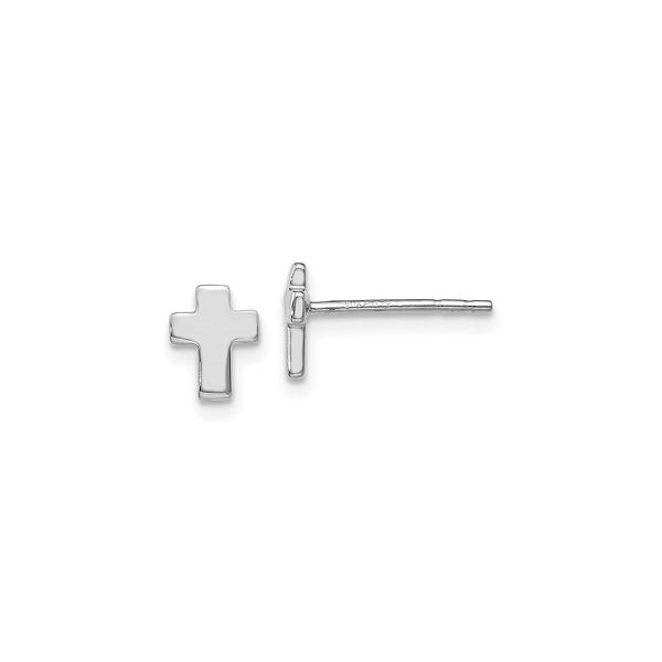 White Gold Cross Studs Polly's Fine Jewelry N. Charleston, SC