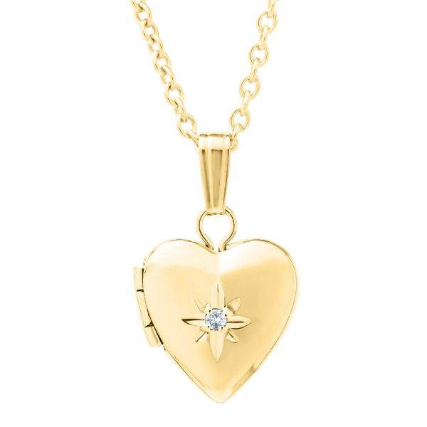 14K Gold Filled Children's Heart Locket Necklace Polly's Fine Jewelry N. Charleston, SC