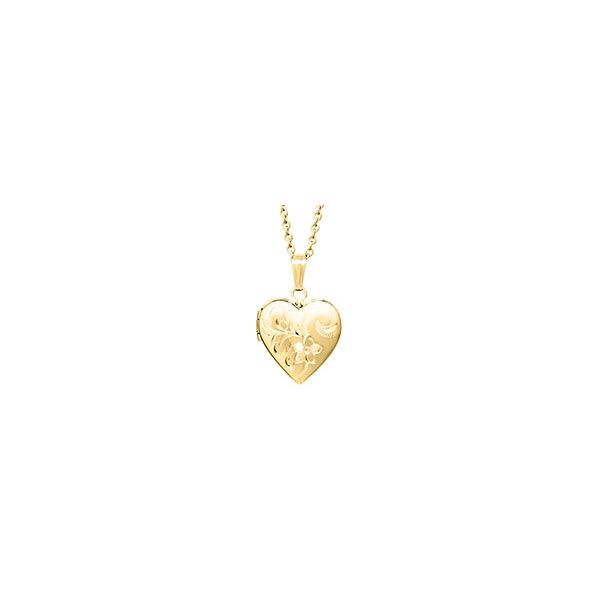 14K Gold Filled Hand Engraved Heart Locket Polly's Fine Jewelry N. Charleston, SC