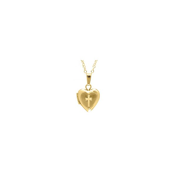 14K Gold Filled Heart and Cross Locket Polly's Fine Jewelry N. Charleston, SC