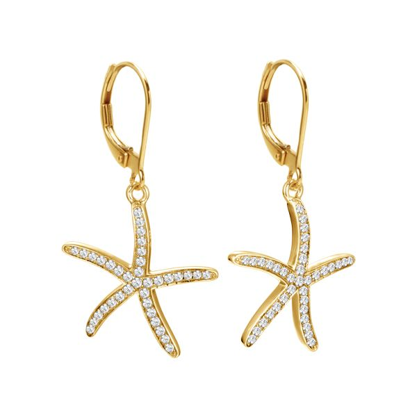 Small Diamond Starfish Earrings Polly's Fine Jewelry N. Charleston, SC