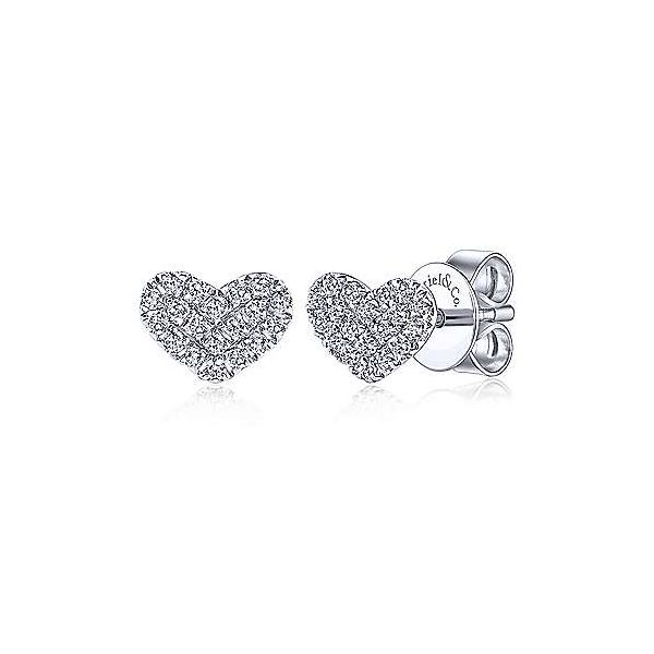Pave Diamond Heart Studs Polly's Fine Jewelry N. Charleston, SC