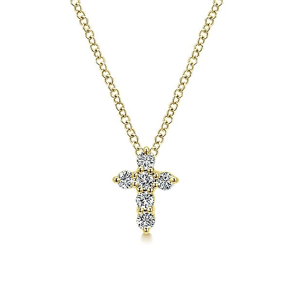 Small Diamond Cross Necklace Polly's Fine Jewelry N. Charleston, SC