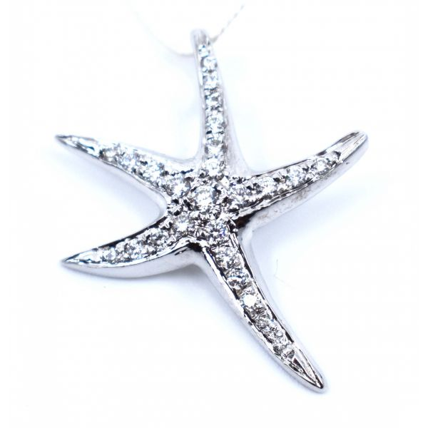 Small Diamond Starfish Pendant Polly's Fine Jewelry N. Charleston, SC