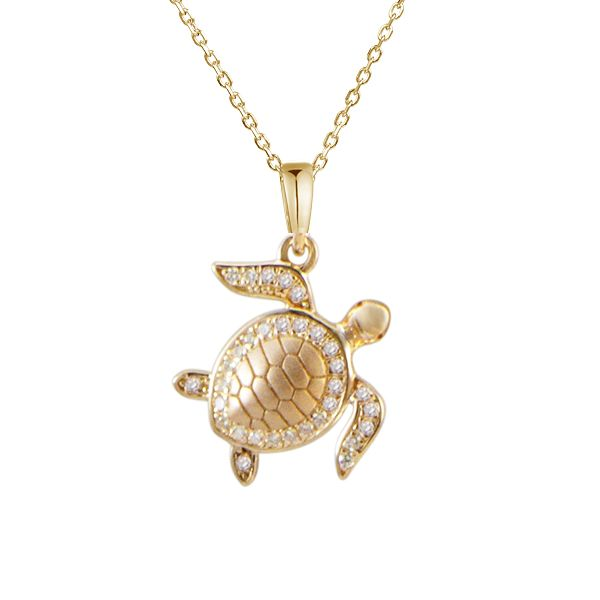 Small Pave Diamond Turtle Pendant Polly's Fine Jewelry N. Charleston, SC