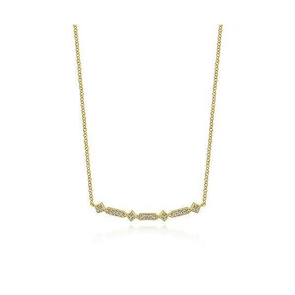 Pave Diamond Bar Necklace Polly's Fine Jewelry N. Charleston, SC