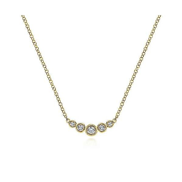 Bezel Set Diamond Bar Necklace Polly's Fine Jewelry N. Charleston, SC