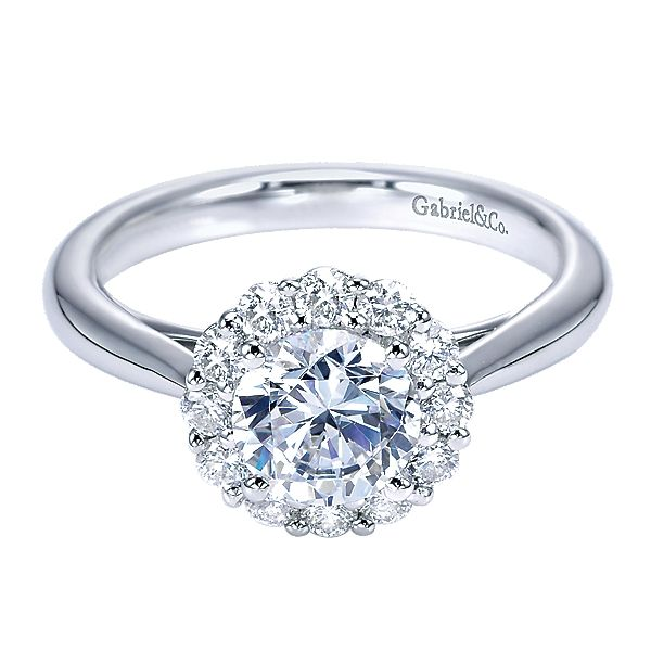 Gabriel Diamond Halo Ring Mounting Polly's Fine Jewelry N. Charleston, SC