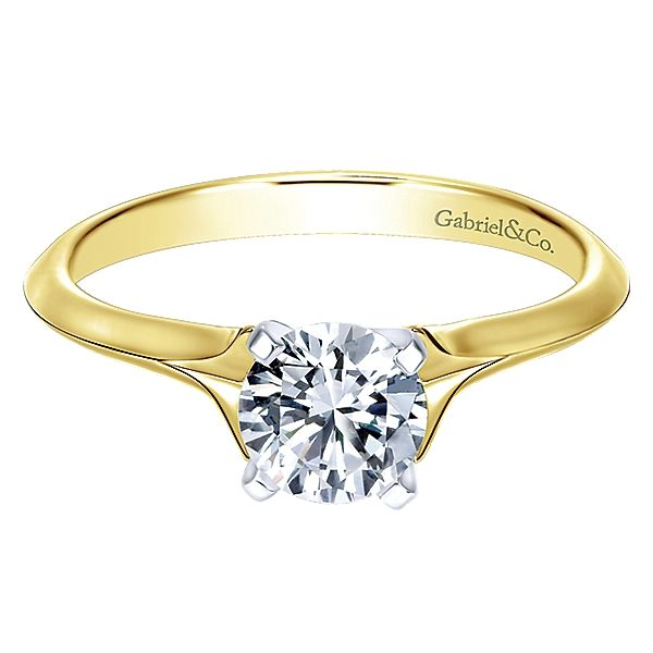Gabriel Round Solitaire Ring Mounting Polly's Fine Jewelry N. Charleston, SC