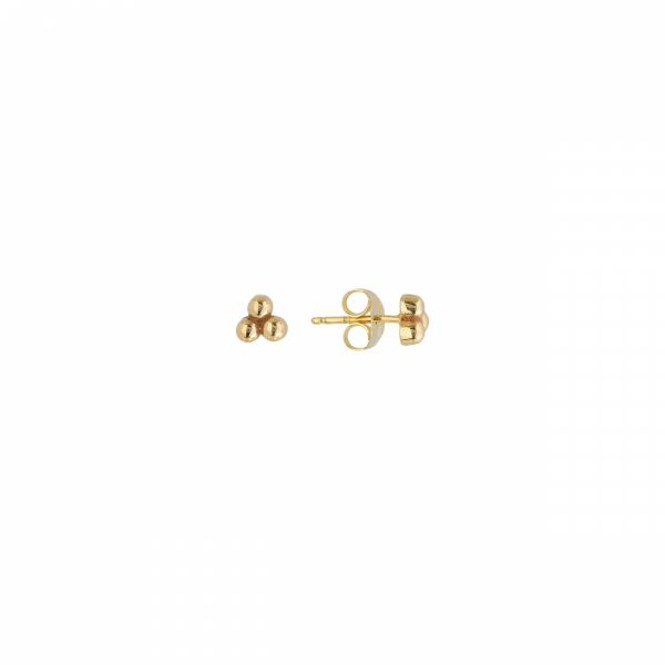 Yellow Gold Petite Cluster Studs Polly's Fine Jewelry N. Charleston, SC