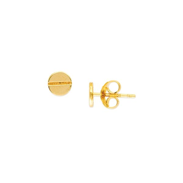 14K Yellow Gold Screw Top Stud Earrings Polly's Fine Jewelry N. Charleston, SC