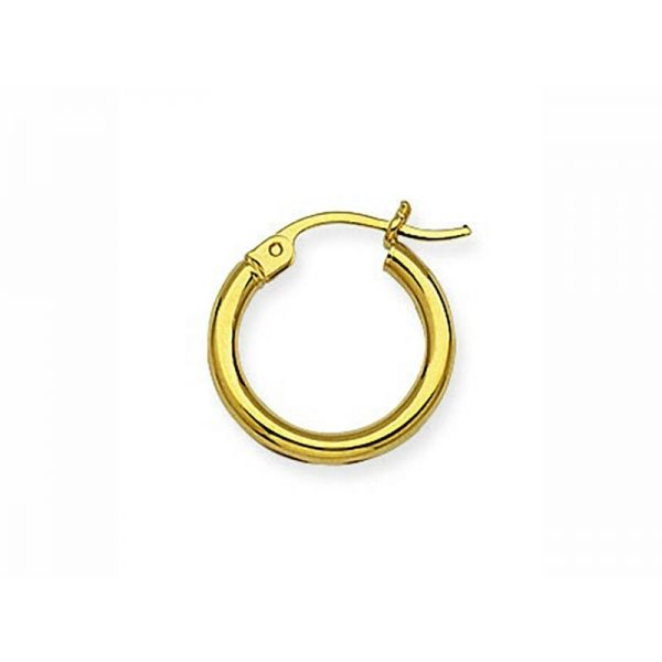 Yellow Gold 2x15mm Hoop Earrings Polly's Fine Jewelry N. Charleston, SC