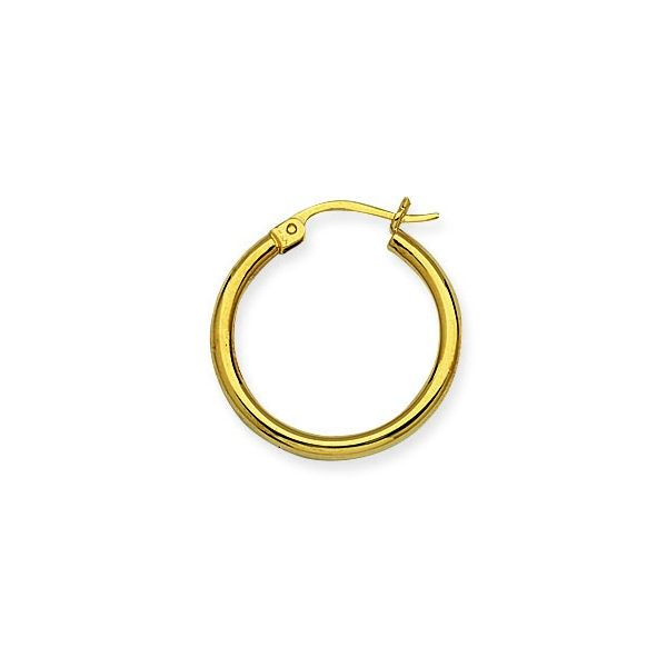 Yellow Gold 2x20mm Hoop Earrings Polly's Fine Jewelry N. Charleston, SC
