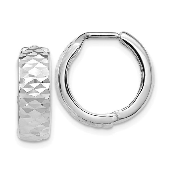 White Gold Huggie Earrings Polly's Fine Jewelry N. Charleston, SC