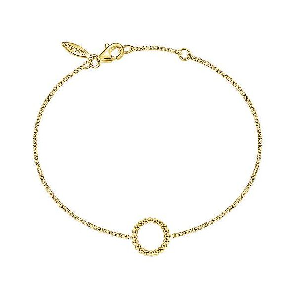 Yellow Gold Beaded Circle Chain Bracelet Polly's Fine Jewelry N. Charleston, SC