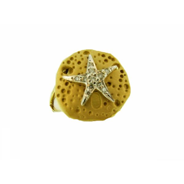 Starfish on Sand Dollar Ring Polly's Fine Jewelry N. Charleston, SC