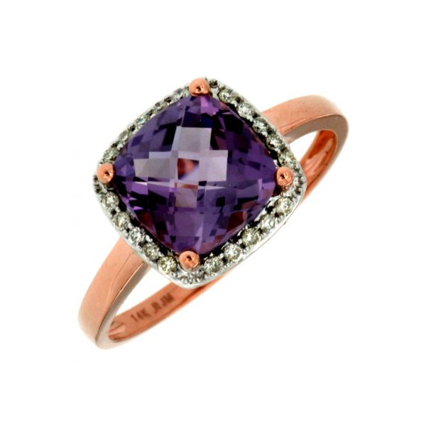 Rose Gold Amethyst Ring Polly's Fine Jewelry N. Charleston, SC