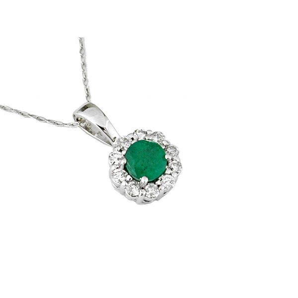 White Gold Emerald Necklace Polly's Fine Jewelry N. Charleston, SC