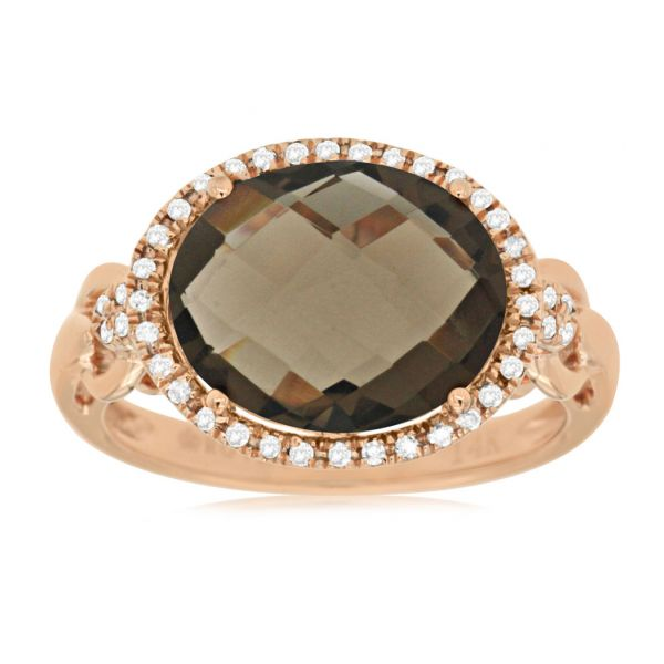 Rose Gold Smokey Quartz Ring Polly's Fine Jewelry N. Charleston, SC