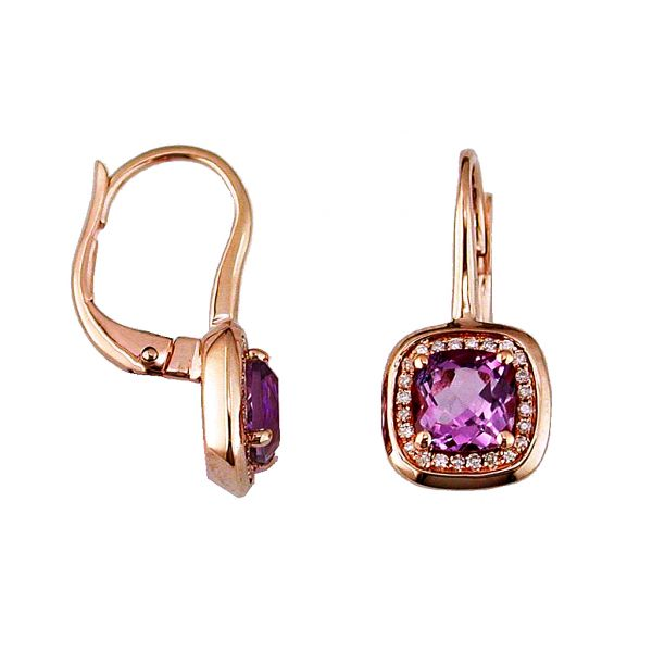 Rose Gold Amethyst Earrings Polly's Fine Jewelry N. Charleston, SC
